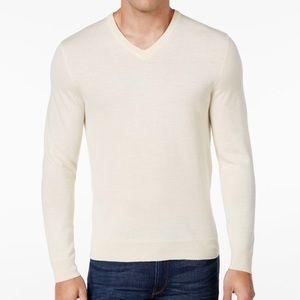 Club Room men's V-neck sweater.